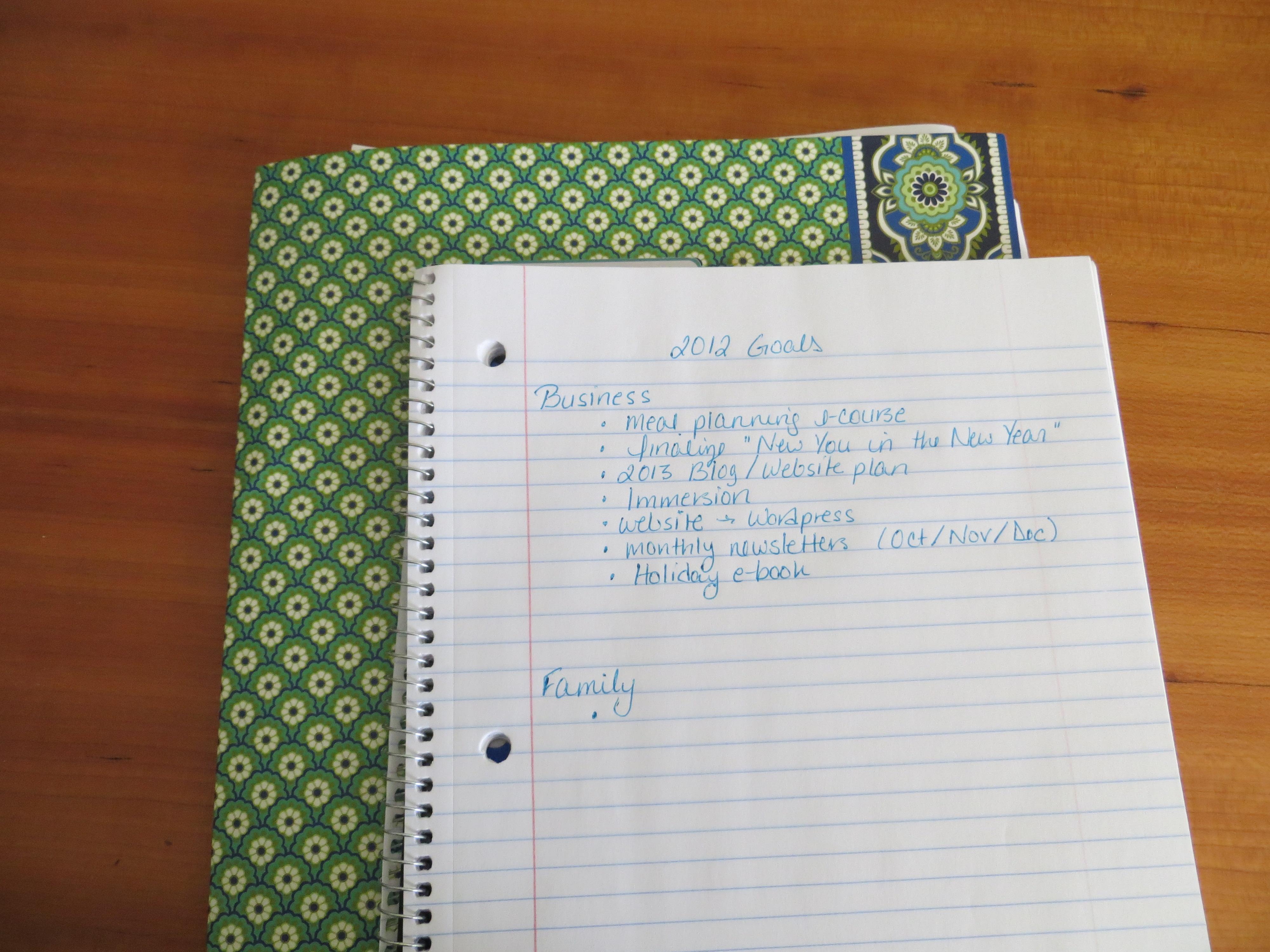 Let's Set Some Goals! Session 1