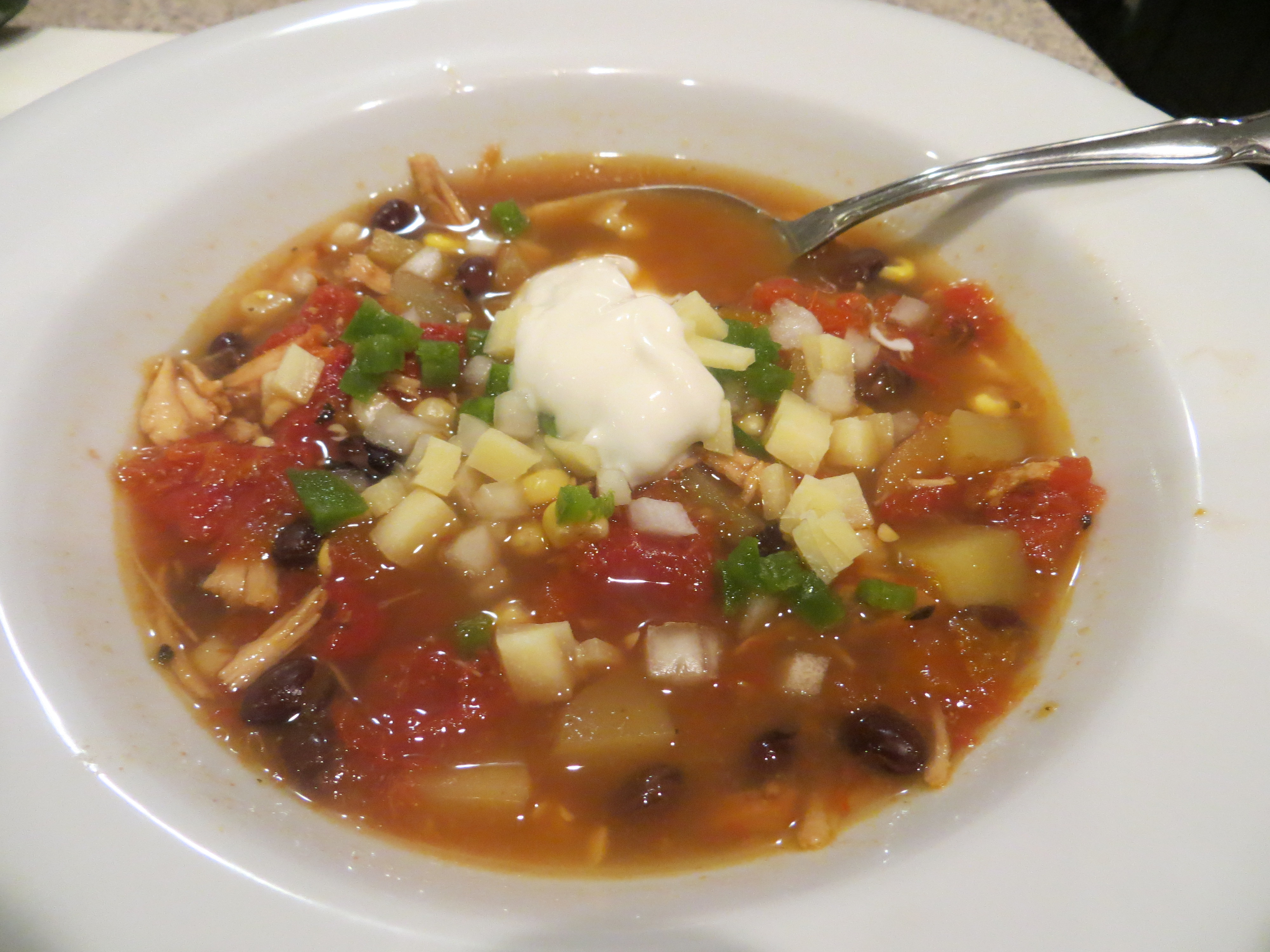 Black Bean Chicken Soup
