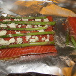 A Perfect Spring Dinner – Salmon with Asparagus and Goat Cheese