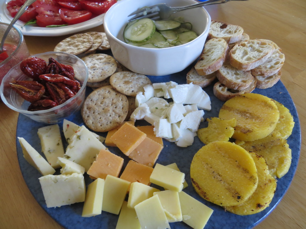 Easy entertaining with a cheese plate!