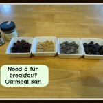Oatmeal Buffet – Easy and Fun Breakfast Idea