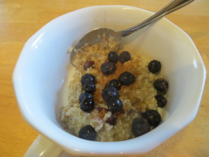 Oatmeal with toppings