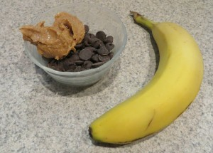 ingredients for chocolate bananas