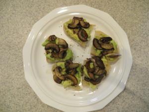 mushroom avocado