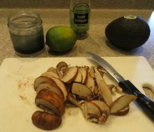 avocado toast + mushrooms