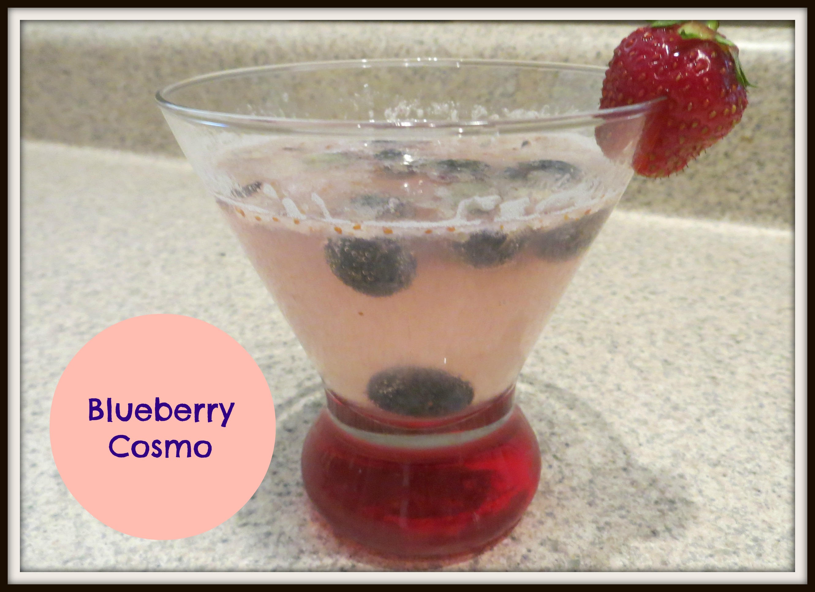 "Perfect Summer Holiday Drink – ""Real Food"" Blueberry Cosmo"
