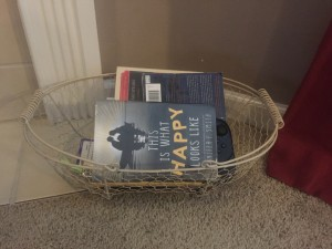 Library basket looking a bit empty!