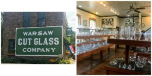 Amazing cut glass available at Warsaw Cut Glass Company in Warsaw, Indiana