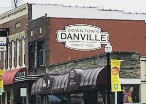Historic downtown Danville, IN