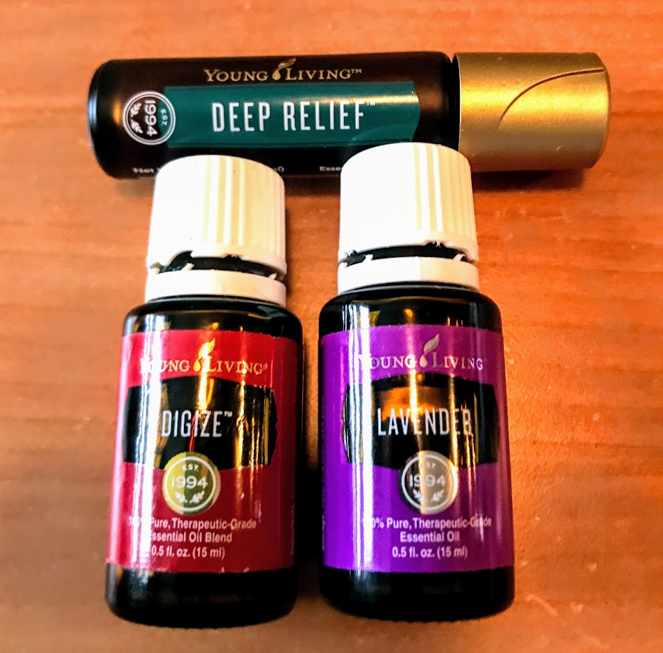 Essential oils I always have on hand - I keep these three in my purse.