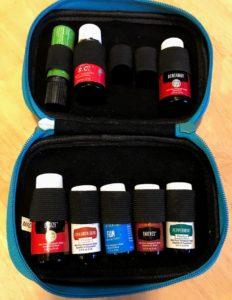 essential oils traveling case