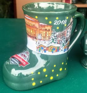 Gluwein mug at the Carmel Christkindlmarkt