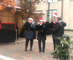 Christmas carols at the Carmel Christkindlmarkt