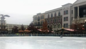 Ice skating rink at the Carmel Christkindlmarkt