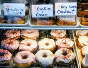 Donuts at Titus Bakery in Westfield, Indiana