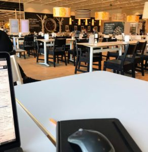 Getting some work done in the IKEA cafe