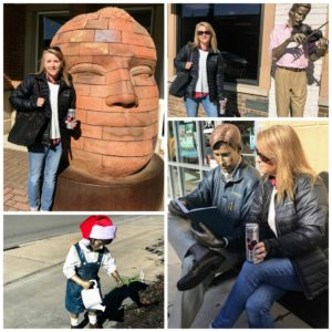 Statues in downtown Carmel, Indiana #shop