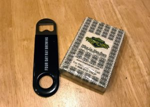 What to pack - Always take a bottle opener and deck of cards when traveling!