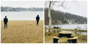 The beach area at Pokagon State Park in Indiana