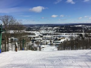Bluebird day at Boyne Mountain in Michigan