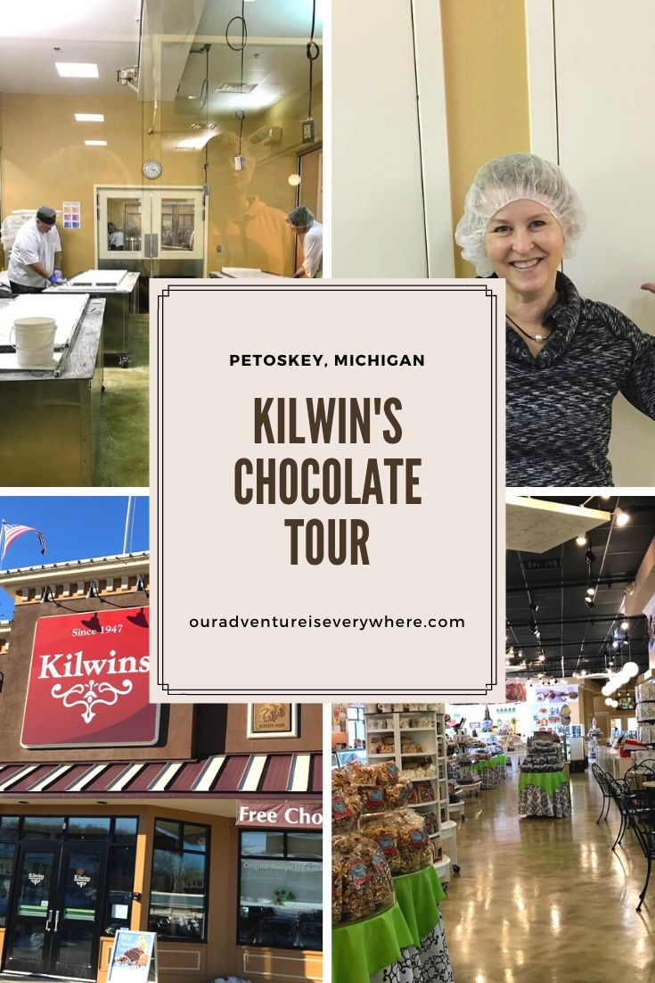 Kilwins flagship store in Petoskey, MI offers a fun and free chocolate tour. Learn how this delicious chocolate is made, sample some goodies and enjoy the huge retail store! #foodies #chocolate #travel