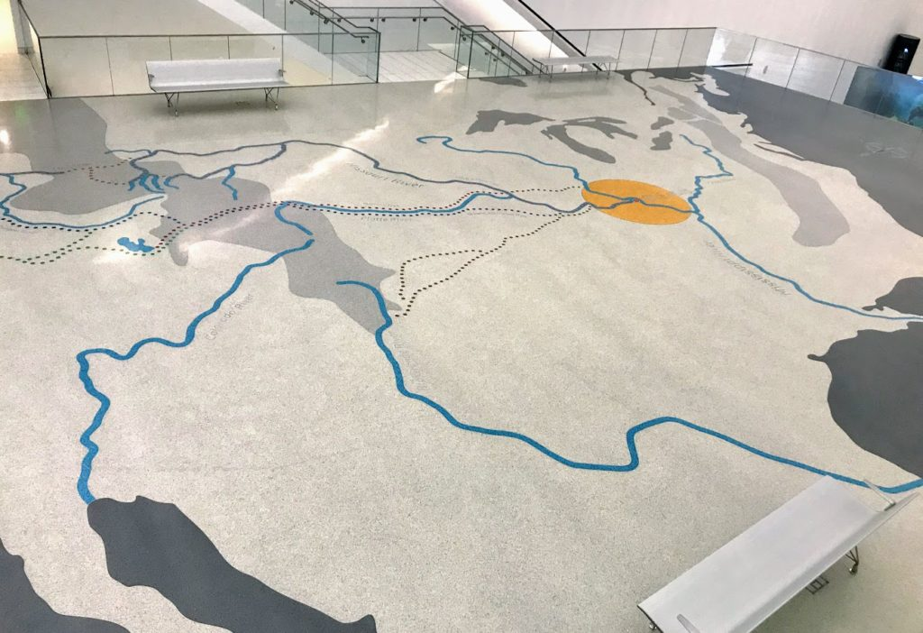 Terrazzo map in the Gateway Arch National Park + St. Louis, Missouri
