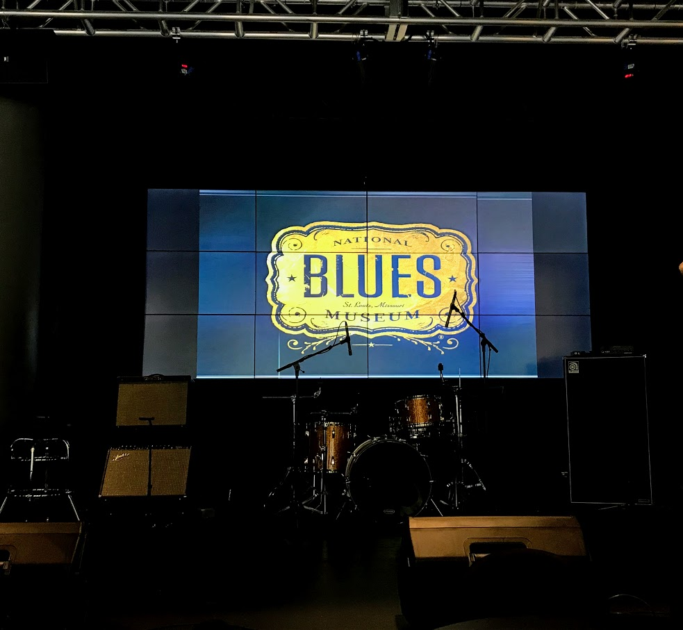 Stage at the National Blues Museum in St. Louis, Missouri