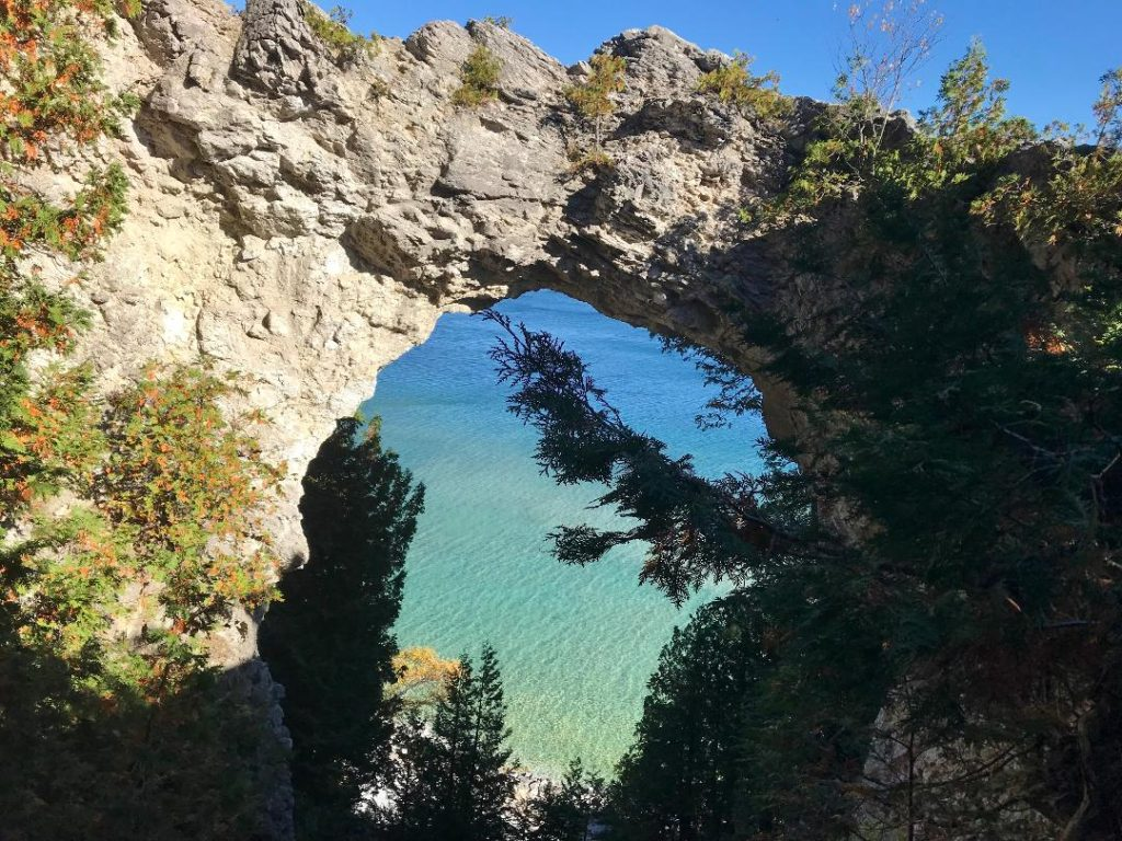 Arch Rock on Mackinaw Island