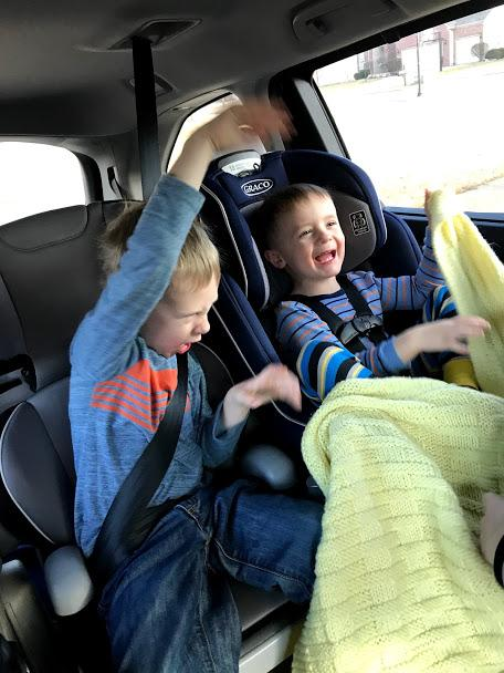 Road trips with young kids