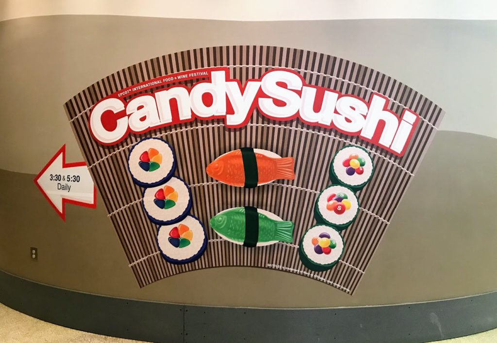 Candy Sushi at Epcot's Food and Wine Festival
