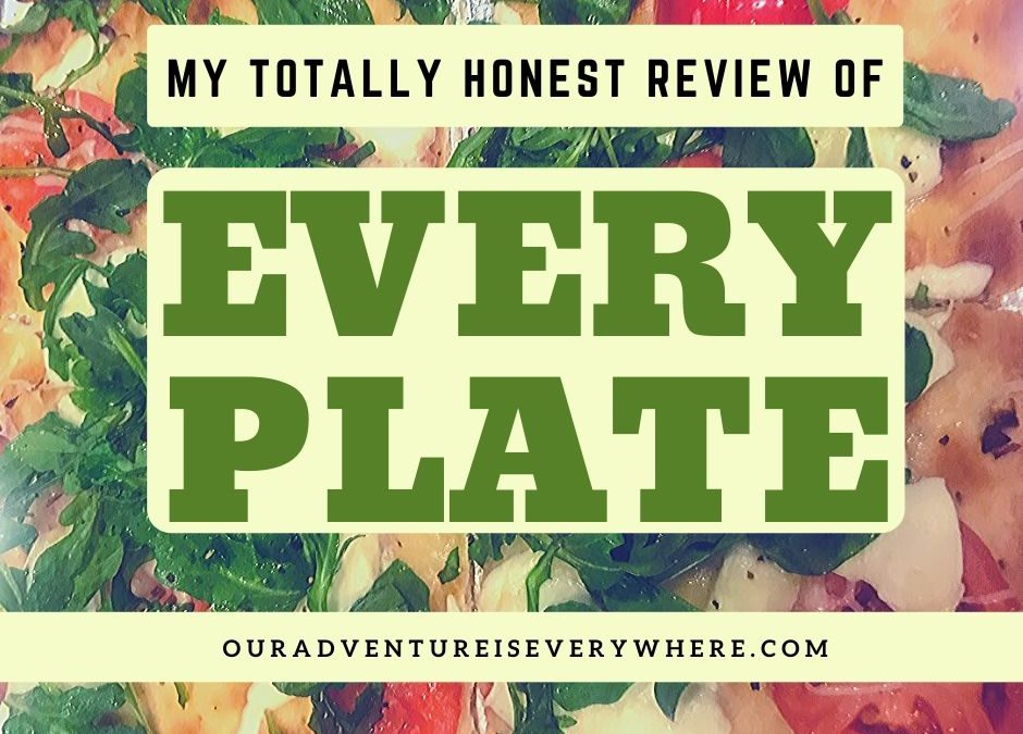 EveryPlate review + menu planning + family dinner
