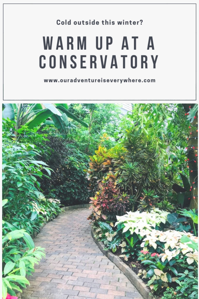 Warm up this winter by visiting a conservatory. Garfield Conservatory in Indianapolis, IN is the perfect winter afternoon break. #winterfun #conservatory #Indiana