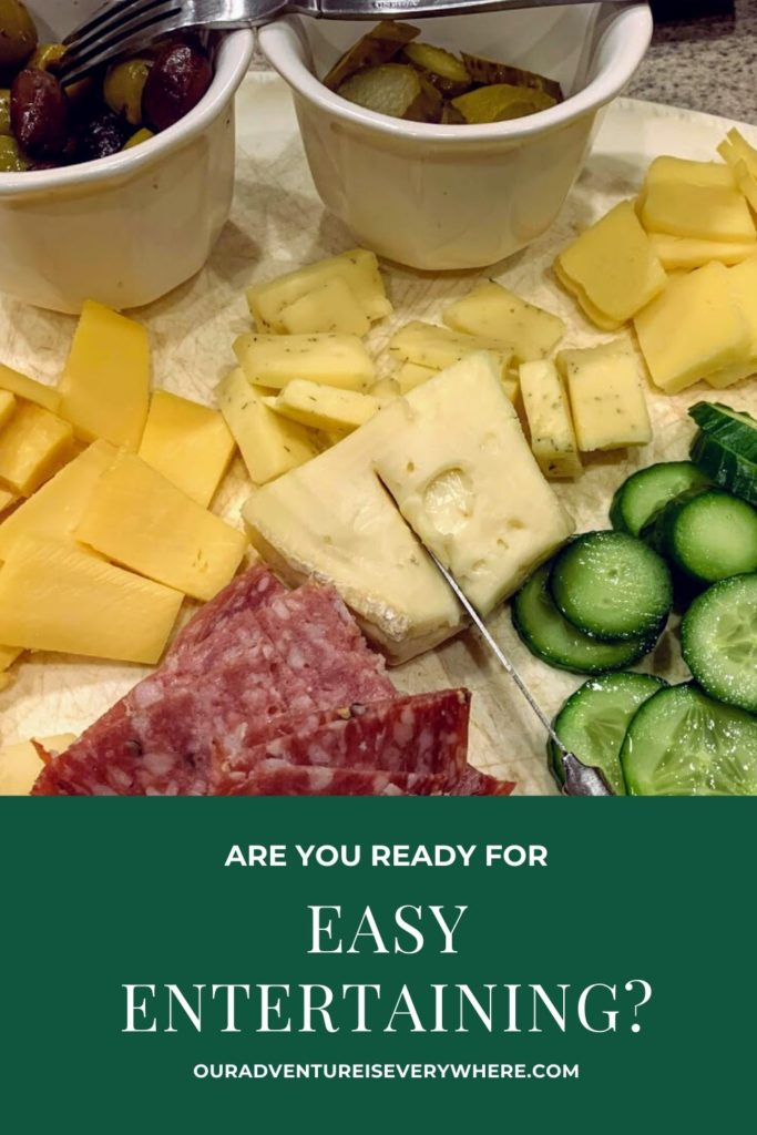 Ready for the easiest entertaining ever? Explore my tips for creating a lovely cheese plate and why you should consider it. #ouradventureiseverywhere #familyfun #entertainingtips