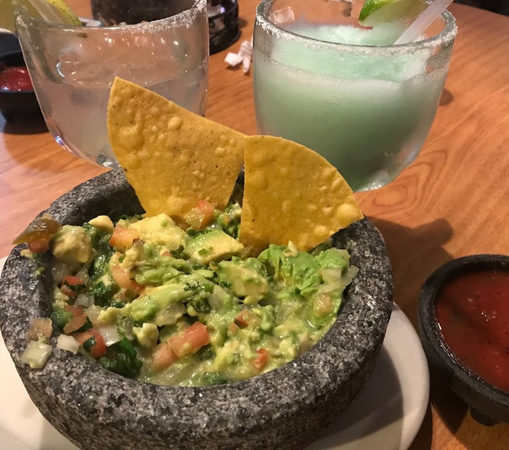 Margaritas, chips and guac is the perfect start to your progressive dinner date night.