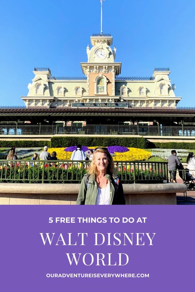 Disney and FREE? Seems like an oxymoron, right? Here are 5 FREE things you can do at Walt Disney World. Check them out to create memories without spending a fortune. #disneyvacation #disney #ouradventureiseverywhere