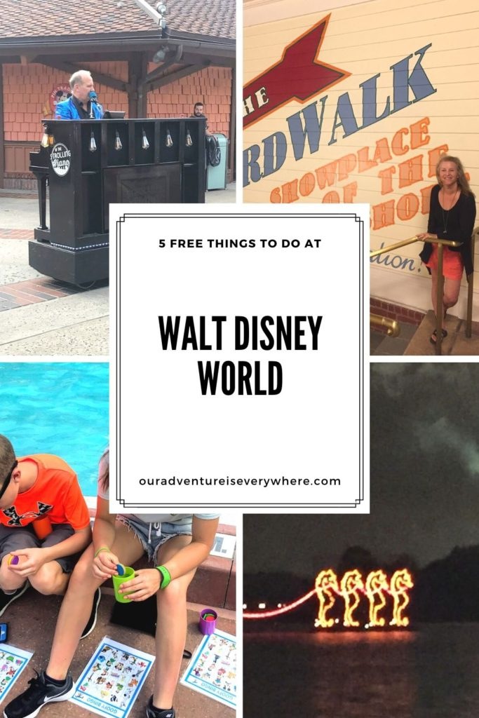 Looking for FREE things to do when visiting Walt Disney World? Although Disney is a pricey vacation, there are some fun free things you can check out. #disneyvacations #ouradventureiseverywhere #disney