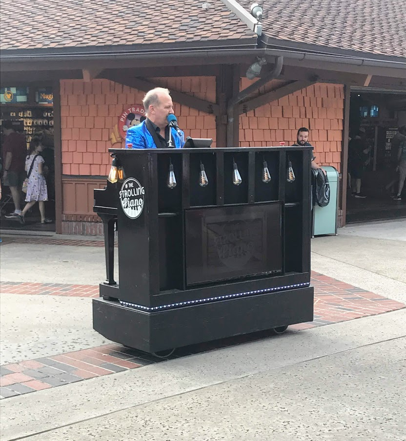 The rolling piano at Disney Springs