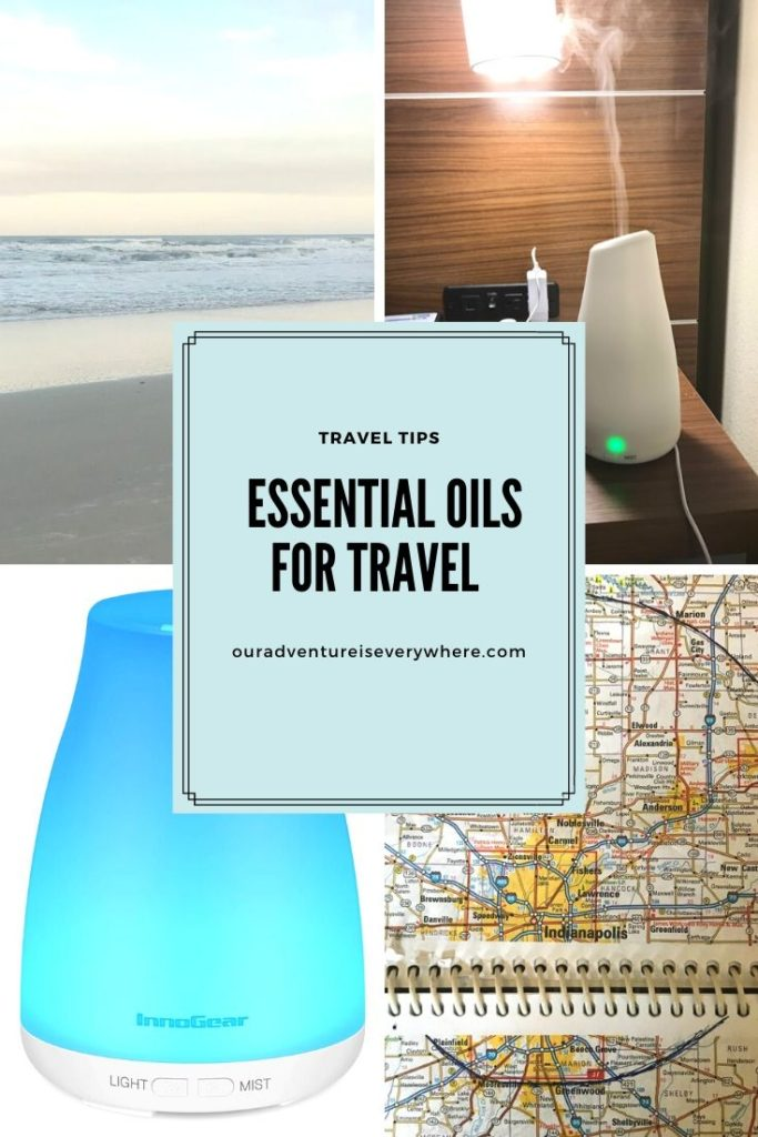 Which essential oils I always travel with and how I use them.  Make your vacation better by bringing along some useful essential oils. #essentialoils #packingtips #ouradventureiseverywhere