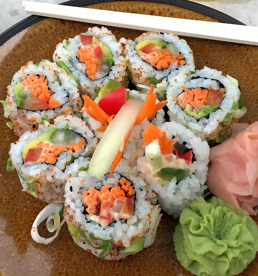 Sushi is the perfect main course for your progressive dinner date night.