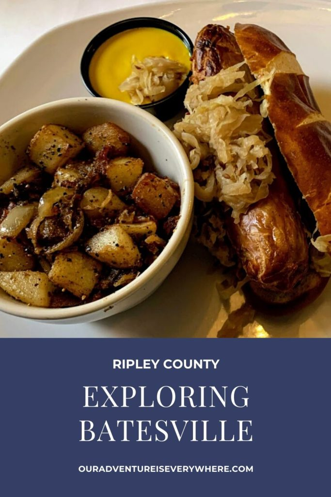 Enjoy a fun day in Batesville, IN. Located in Ripley county, you'll discover hearty and delicious German food, adorable shops and a bit of interesting history too! #ouradventureiseverywhere #familytravel #MidwestTravel
