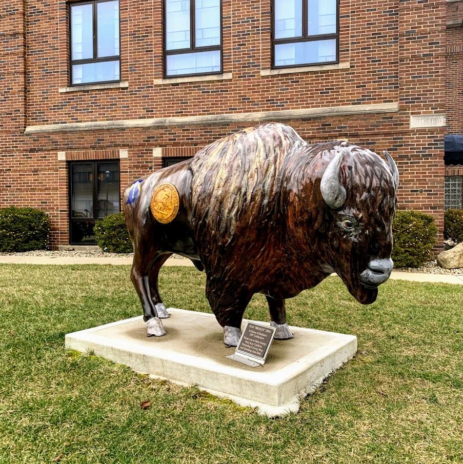 Ripley county buffalo in downtown Batesville, IN