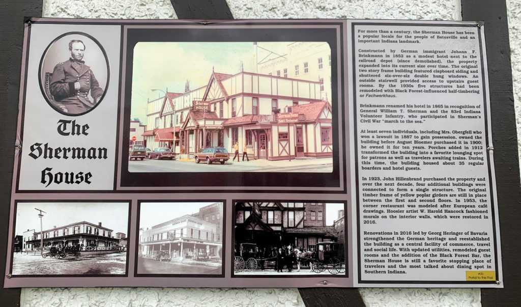 History of the Sherman House in Batesville, IN