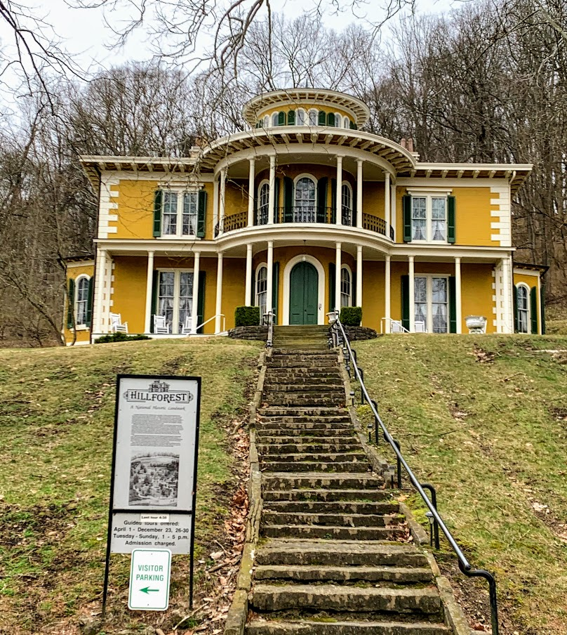 Hillforest Mansion, a tourist attraction in Southern Indiana.