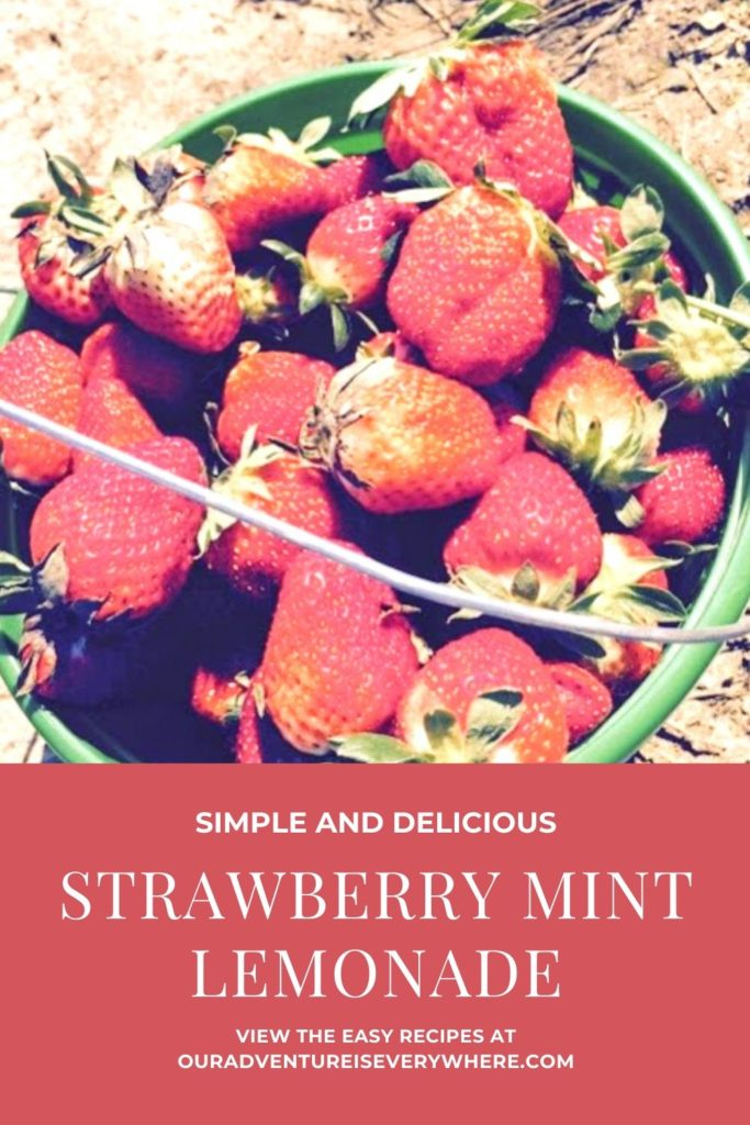 Simple Strawberry Mint Lemonade. Make this delicious, healthy and refreshing drink in minutes. Perfect for warm weather enjoyment! #drinks #recipes #strawberries