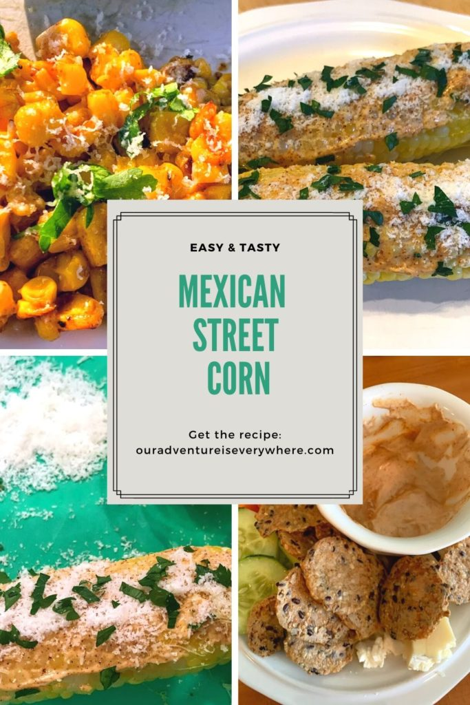 A quick and easy version of elotes or Mexican Street Corn. Perfect year round with either fresh corn on the cob or frozen corn. Yum! #recipes #mexicanstreetcorn #easysidedishes