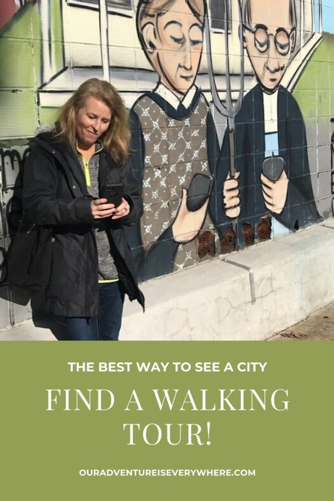 The best way to see a city it to walk it! If you love exploring, this post shares ideas and resources for discovering walking tours wherever you are! Getting to know a city on foot is fun! #walkingtours #getoutside #ouradventureiseverywhere