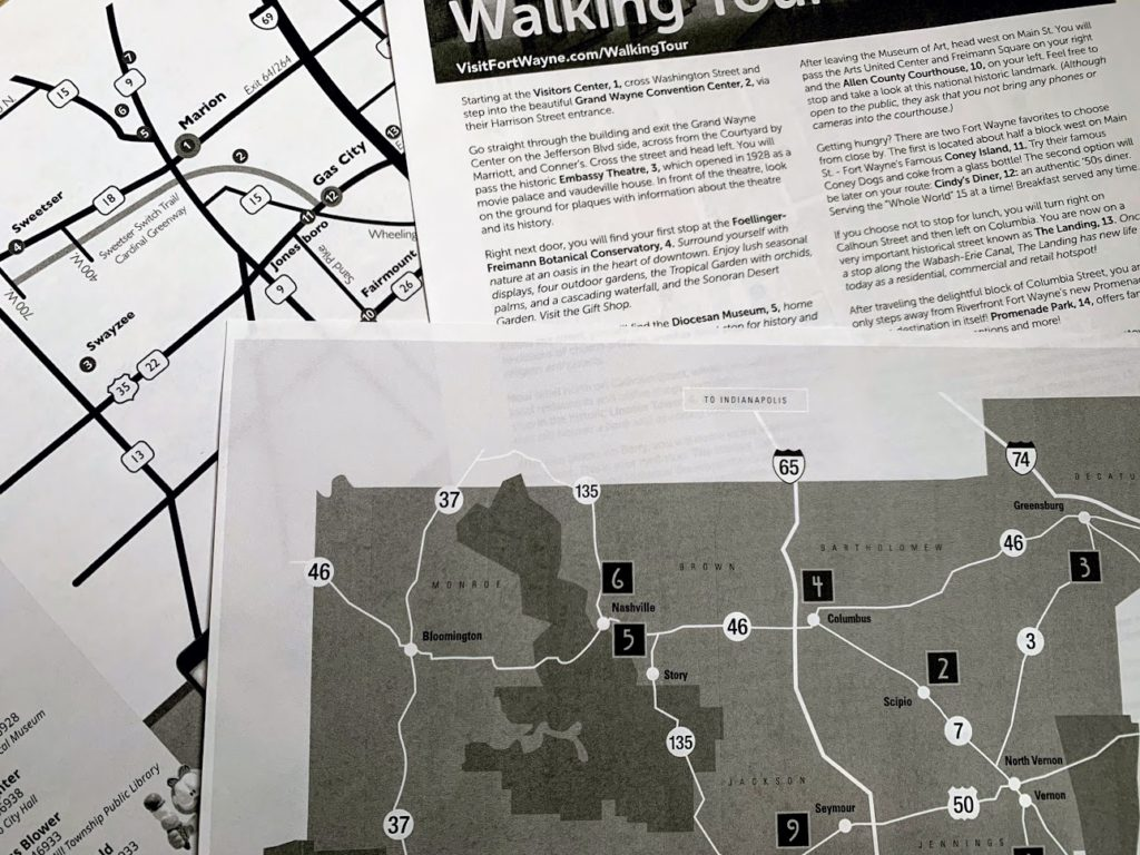 Find and print out walking tours at home.
