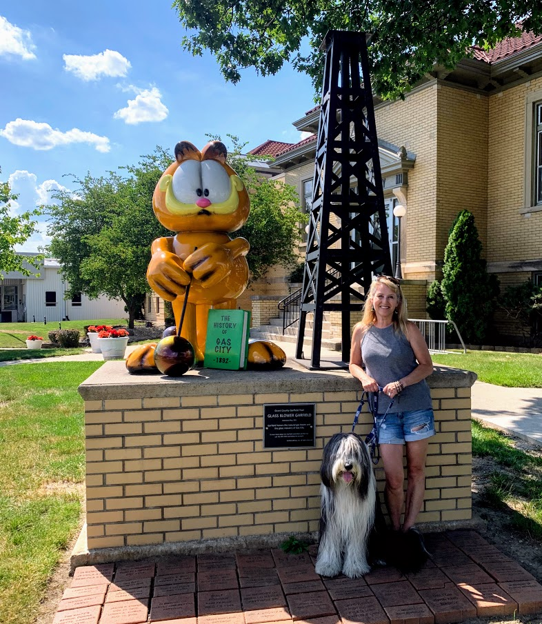 Garfield in Gas City, Indiana. Part of  our day trip on the Garfield Trail.