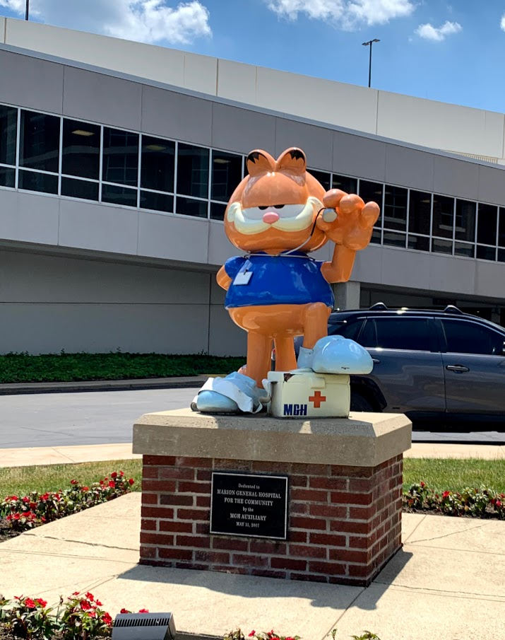 Garfield in Marion, Indiana, part of a day trip on the Garfield trail