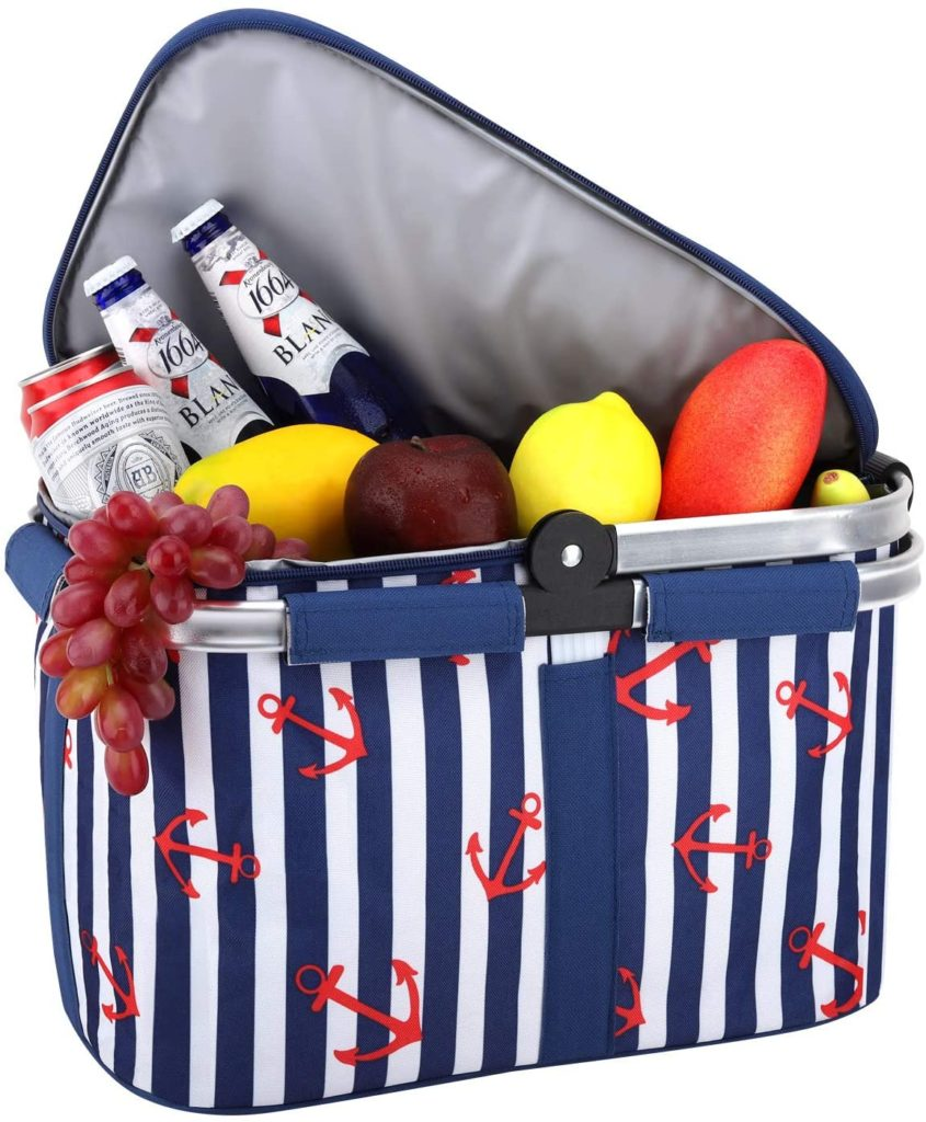An insulated picnic basket makes packing your picnic easy.